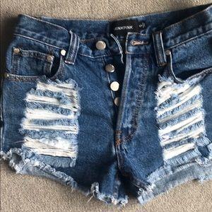 MINKPINK Shorts - mink pink jean shorts